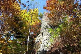 岩塔付近も紅葉!